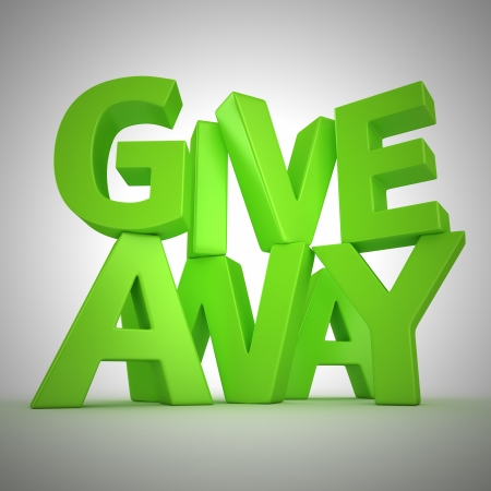 Text Giveaway made from green letters