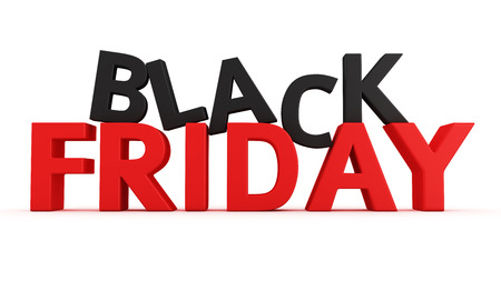 3D label Black Friday on the white background