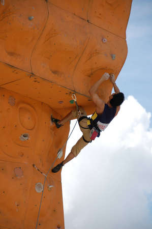 climber in a competition