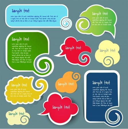 Illustration pour text boxes, vector - image libre de droit
