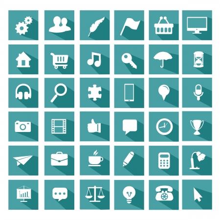 Universal flat icon set