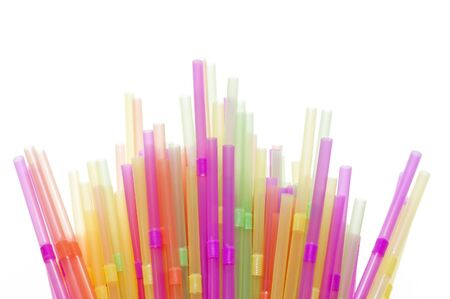 Drinking straws in many different colours