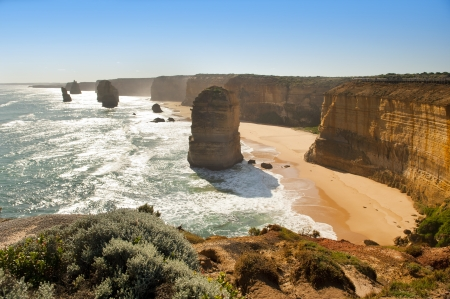 Twelve Apostles, famous landmark along the Great Ocean Road, Australia