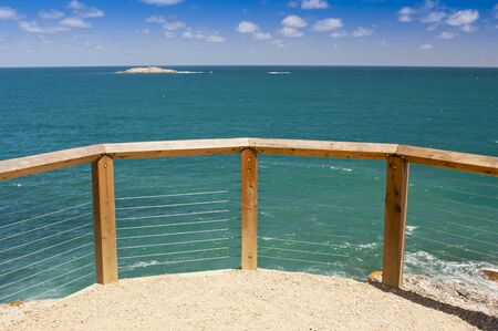 Lookout over beautiful blue waters in South Australia