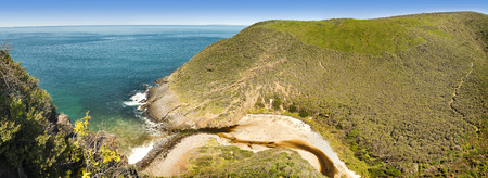 Deep Creek Conservation Park on the Fleurieu Peninsula in South Australia in panoramic format