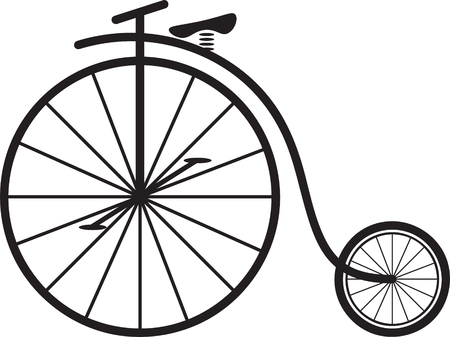 Illustration for Classic vintage penny farthing bicycle vector - Royalty Free Image