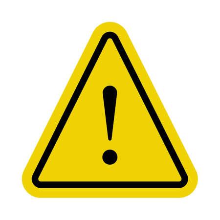 Illustration pour Yellow caution sign or alert symbol in vector - image libre de droit