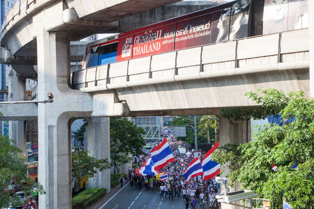 Antigovernment demonstration shutting down Bangkok city center  29th March 2014