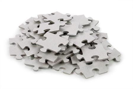 Photo pour Puzzle isolated on white background - image libre de droit