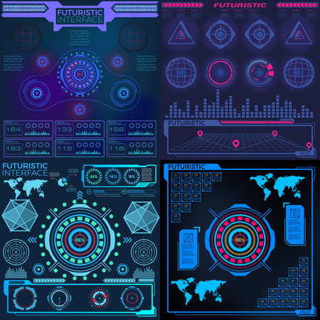Illustration for Hud interface. Futuristic panel. Vector art illustration. - Royalty Free Image
