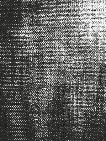 Illustration pour Distressed overlay texture of weaving fabric. grunge background. abstract halftone vector illustration - image libre de droit