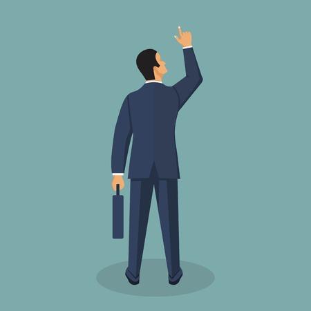 Illustration pour Businessman vector illustration in flat style. Male cartoon character in a business suit. - image libre de droit