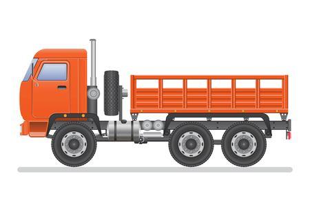 Illustration pour Truck vector illustration isolated on white background. Transportation vehicle. - image libre de droit