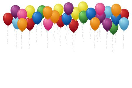 Illustration for Balloons background vector illustration. Birthday concept. - Royalty Free Image