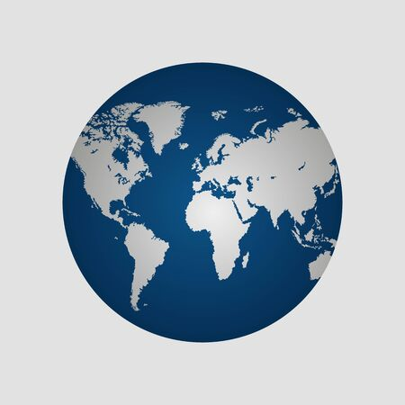 Illustration for Earth globe vector illustration isolated - Royalty Free Image