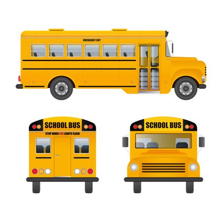 Illustration for School bus vector illustration isolated on white background - Royalty Free Image