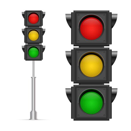 Illustration for Traffic lights vector illustration isolated on white background - Royalty Free Image
