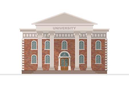 Illustration for University building vector illustration isolated on white background - Royalty Free Image