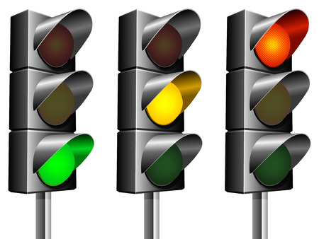 Traffic lights.