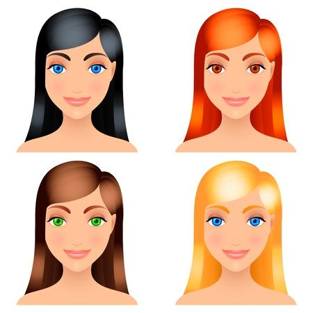 Women hair colors.