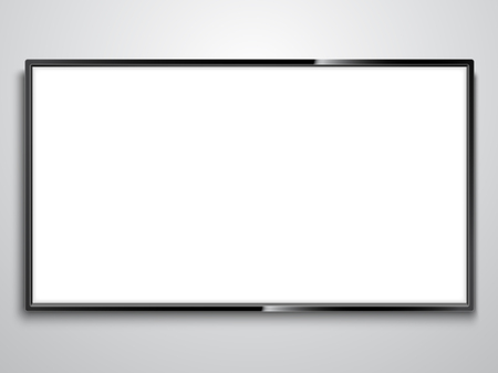 Illustration pour White Screen TV illustration on white background.. - image libre de droit