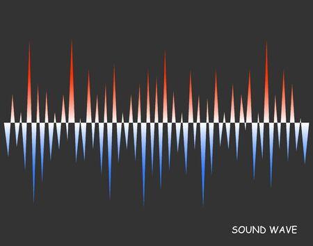 Illustration pour Abstract vector colorful pulse wave lines equalizer. old and warm soundwave. Digital audio concept of music technology background. - image libre de droit