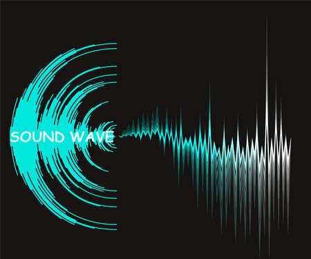 Illustration pour Digital music background with dynamic waves. Poster neon sound wave design. Vector waveform technology. - image libre de droit