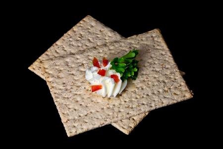 crisp bread and cream cheese