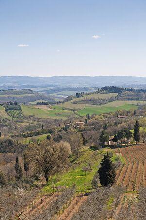 Tuscan countryside near San Gimignano