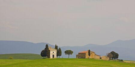 chapel and farm near Pienza