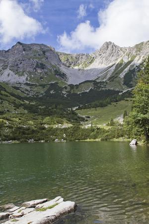 lake Soiern -  lonely mountain lake in the Karwendel mountains