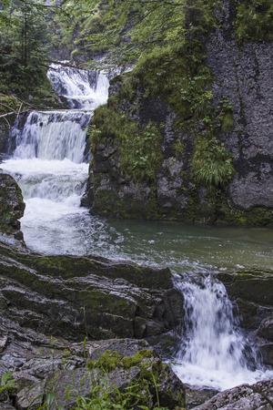 Enterrottach waterfall in Upper Bavaria