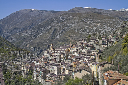 The town Saorge lies in the  Alpes-Maritimes and is due to its spectacular location, the village's most impressive throughout the Roya Valley