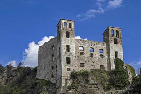 The small Ligurian town of Dolceacqua is dominated by a mighty castle