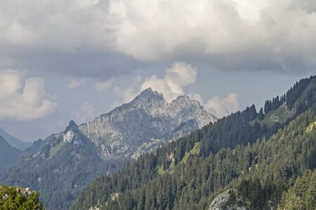 The Klammspitze is a distinctive twin peaks consisting of the Great (1924 m) and Little Klammspitze (1882 m) in the Ammergau Alps