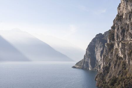 Magnificent views can be enjoyed from the old Ponale road, which leads us to Lake Ledro near Lake Garda