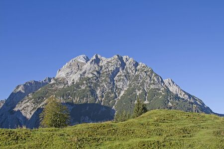 The group of falcons is a rugged and rocky mountain group in the Karwendel Mountains
