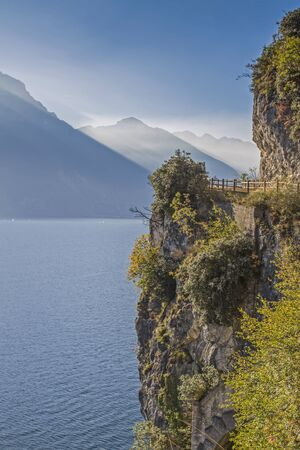 Magnificent views on Lake Garda can be enjoyed from the old Ponale road, which leads us to Lake Ledro