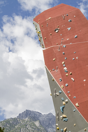 In the middle of Leongang, these bold artificial climbing formations have been built, making every climber's heart beat faster
