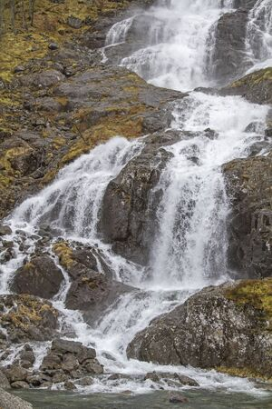 Latefoss waterfall in the Norwegian province of Hordaland