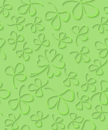 3d Green Paper Cut Pattern Clover For St Patricks Day