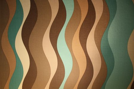 Sixties style wallpaper pattern