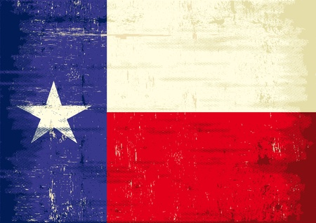 A texas flag with a texture
