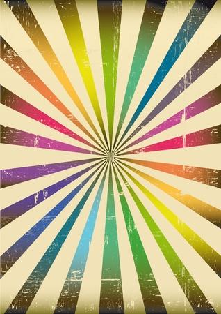 Illustration pour a sunbeam background with rainbow colors - image libre de droit