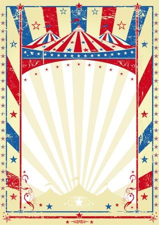 Illustration pour old tricolor poster big top - image libre de droit