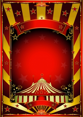 A circus background with gold sunbeams