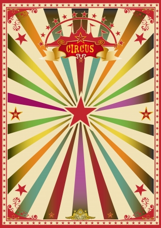A wonderful circus poster for a big party