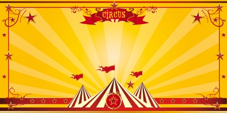 An invitation card for your circus company