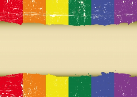 flag with a large frame for your message