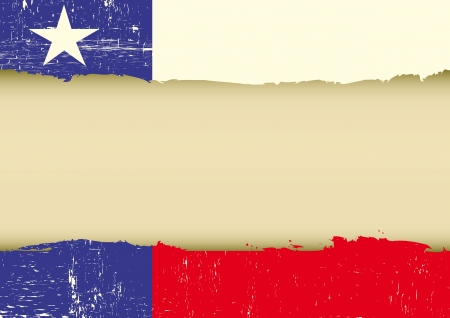A texas flag with a large frame for your message